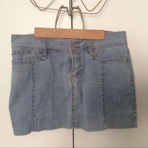 Juniors Gap Mini Jean Skirt